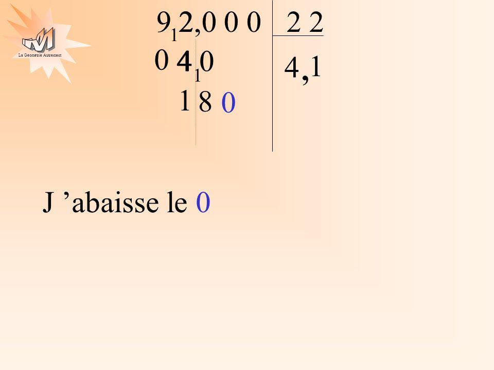 9 2 2,0 0 0 2 2 1 4 0 4 4 1 , 1 J 'abaisse le 0 1 8