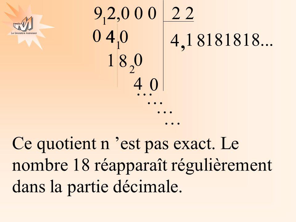 9 2 2,0 0 0. 2 2. 1. 4 0. 4. 4. 1. , 8. 181818... 1. 1. 8. 2. 4. … … … …