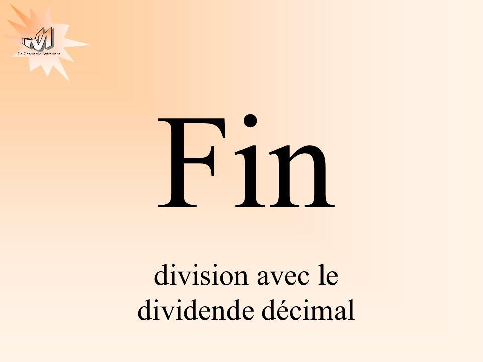 division avec le dividende décimal