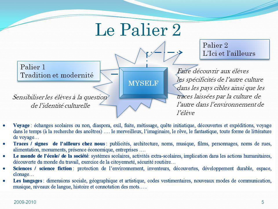 Le Palier 2 Palier 2 L'Ici et l'ailleurs Palier 1