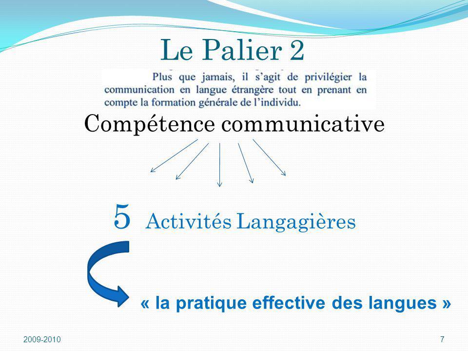 5 Activités Langagières