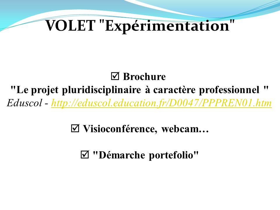 VOLET Expérimentation