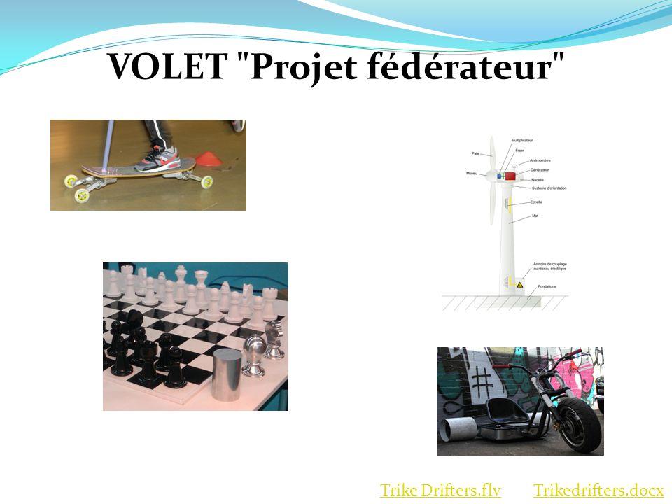 VOLET Projet fédérateur