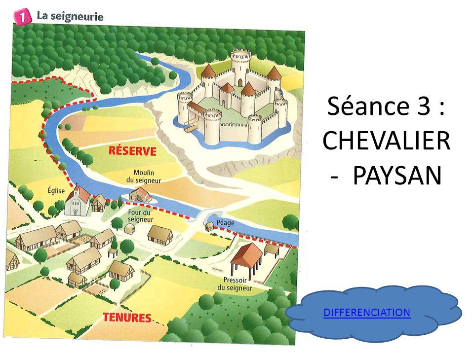Séance 3 : CHEVALIER - PAYSAN