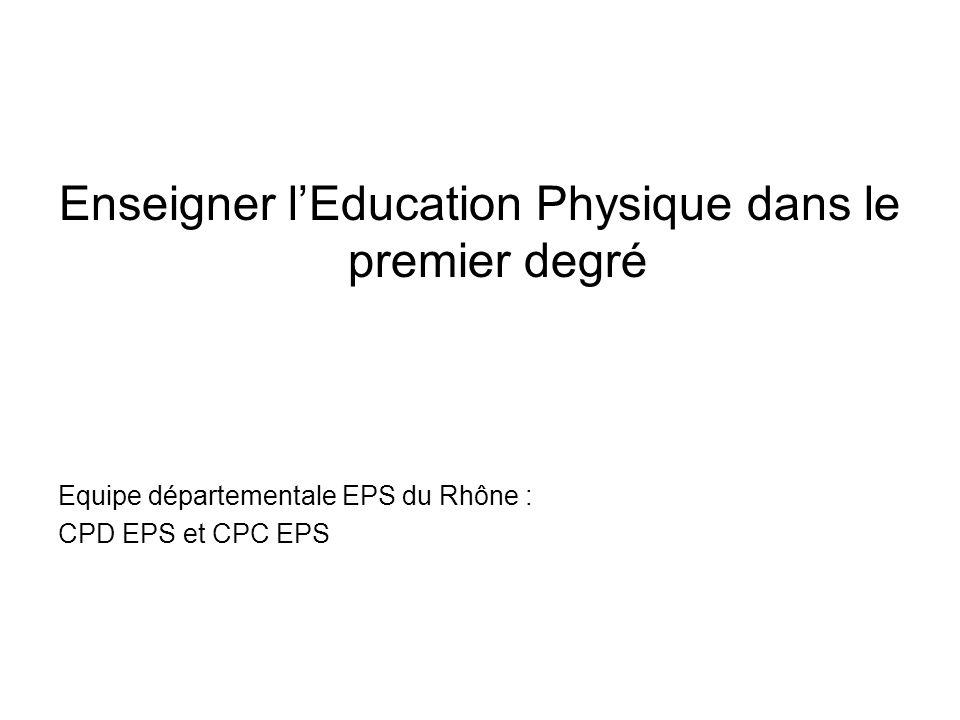 Enseigner l'Education Physique dans le premier degré