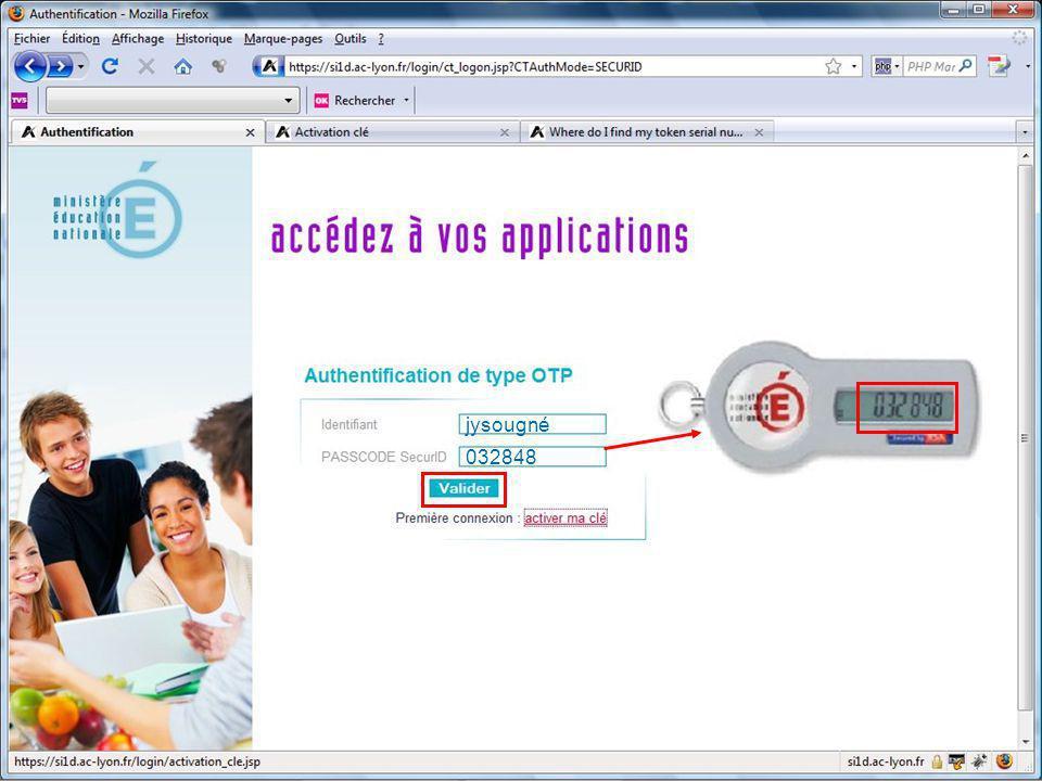 Création du code pin jysougné 032848