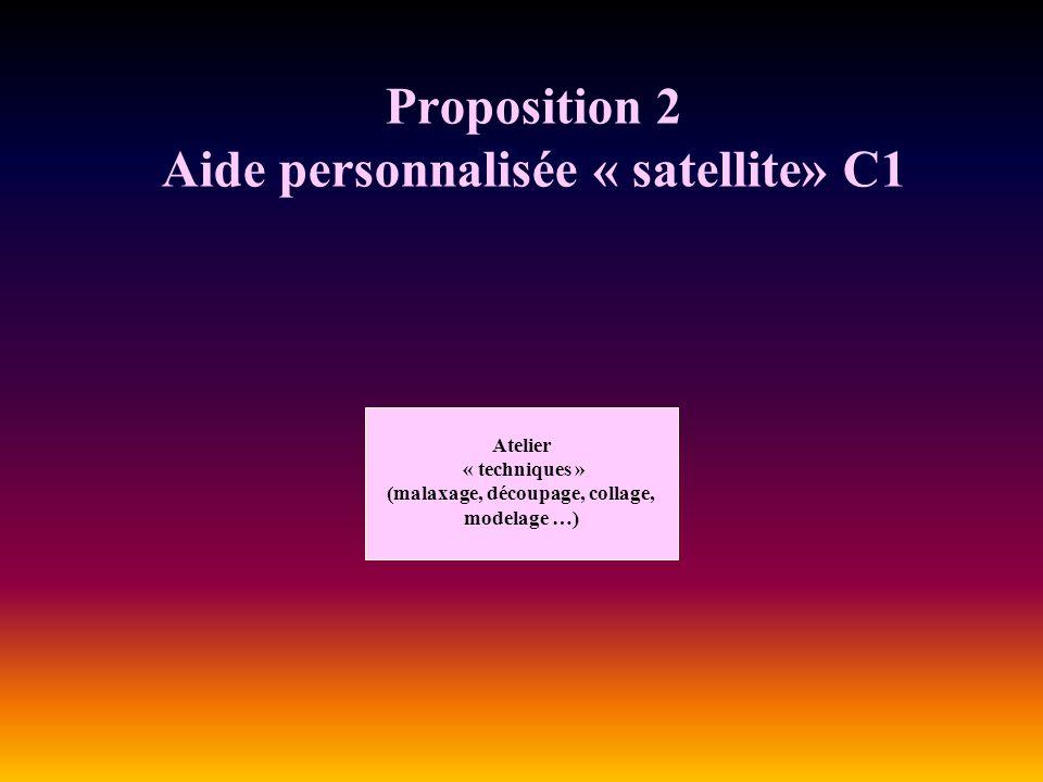 Proposition 2 Aide personnalisée « satellite» C1