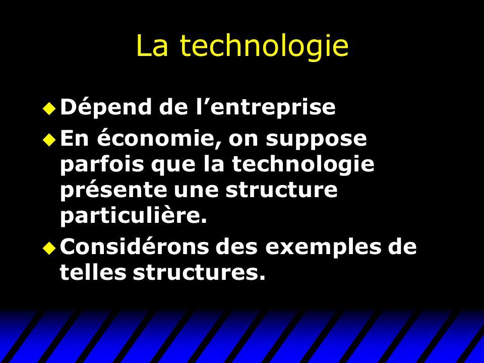 La technologie Dépend de l'entreprise