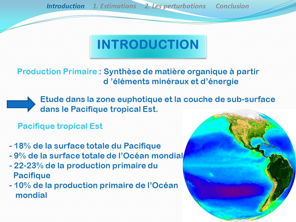 Introduction 1. Estimations 2. Les perturbations Conclusion