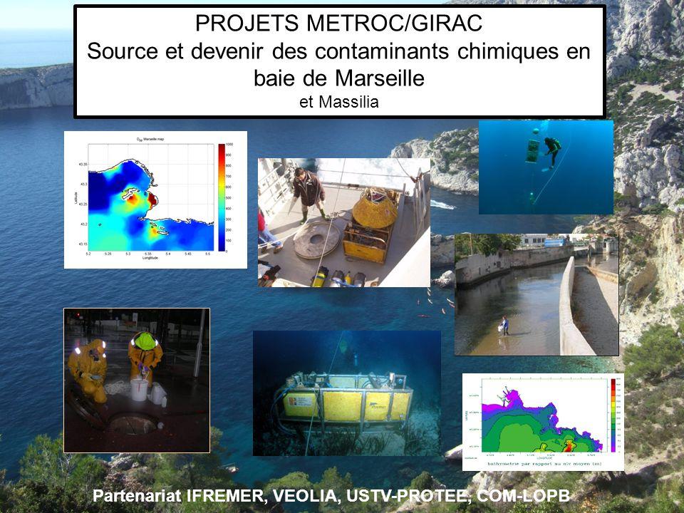 Source et devenir des contaminants chimiques en baie de Marseille
