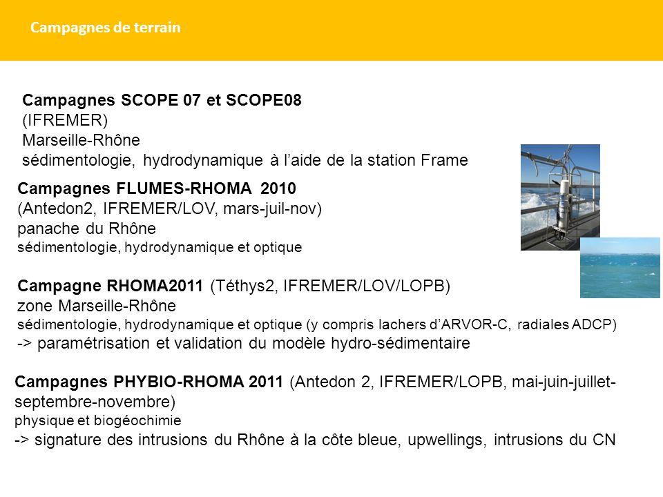 Campagnes SCOPE 07 et SCOPE08 (IFREMER) Marseille-Rhône
