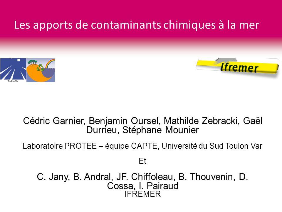 Les apports de contaminants chimiques à la mer