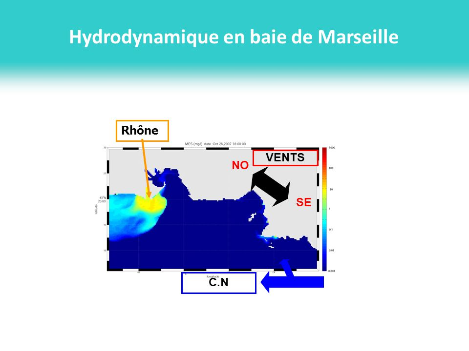 Hydrodynamique en baie de Marseille