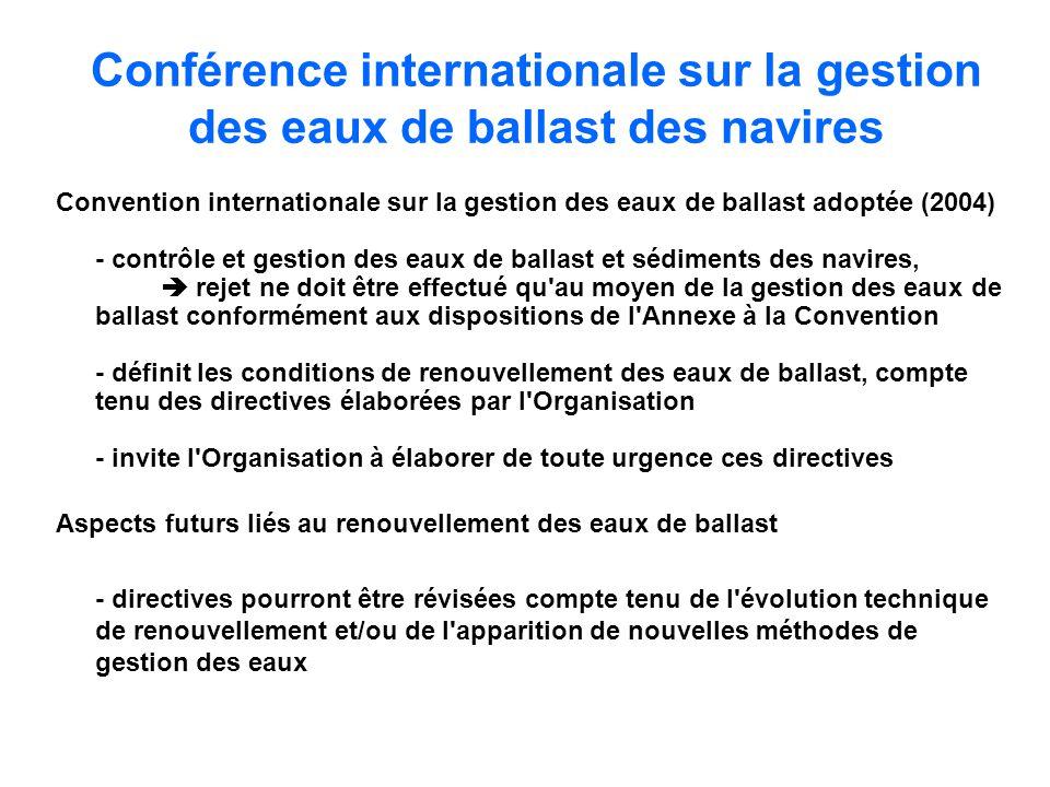 Conférence internationale sur la gestion des eaux de ballast des navires