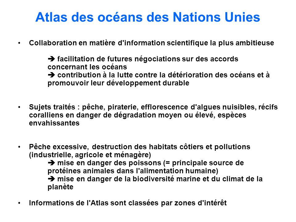 Atlas des océans des Nations Unies