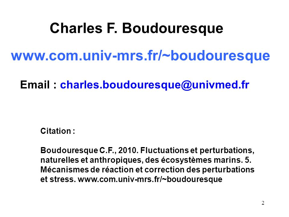 Charles F. Boudouresque