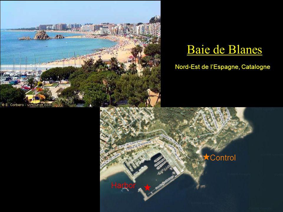 Baie de Blanes Nord-Est de l'Espagne, Catalogne Control Harbor