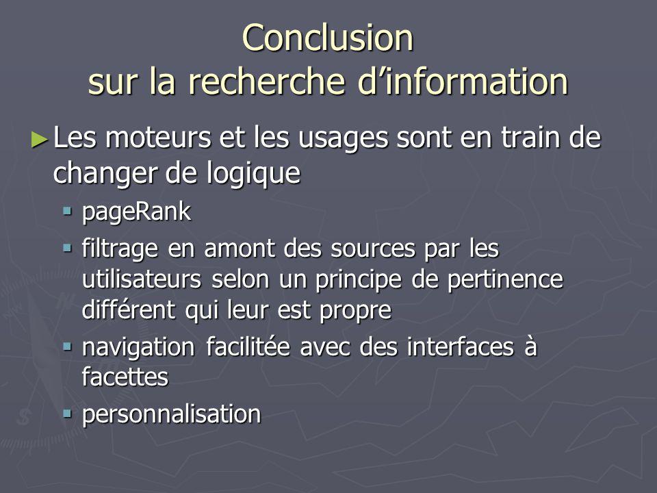 Conclusion sur la recherche d'information