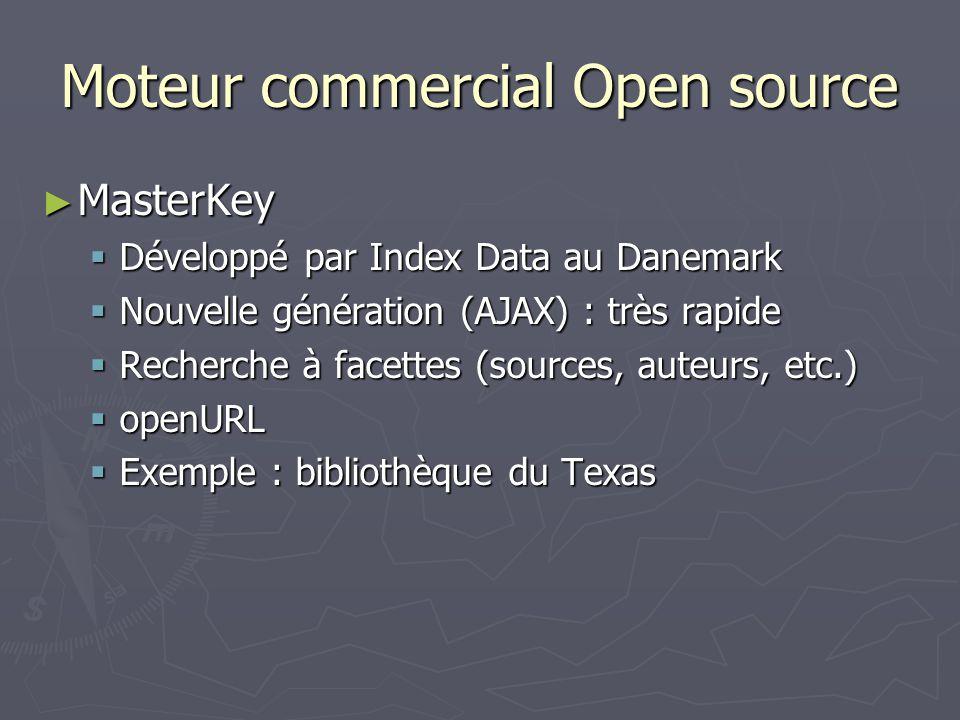 Moteur commercial Open source