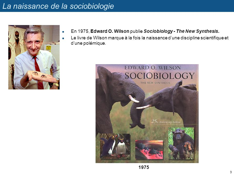 La naissance de la sociobiologie