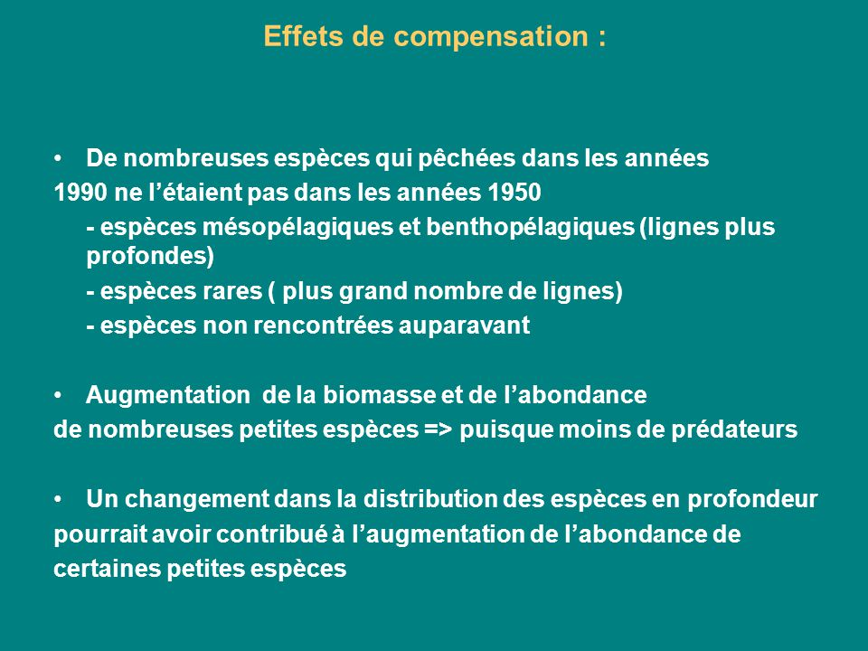 Effets de compensation :