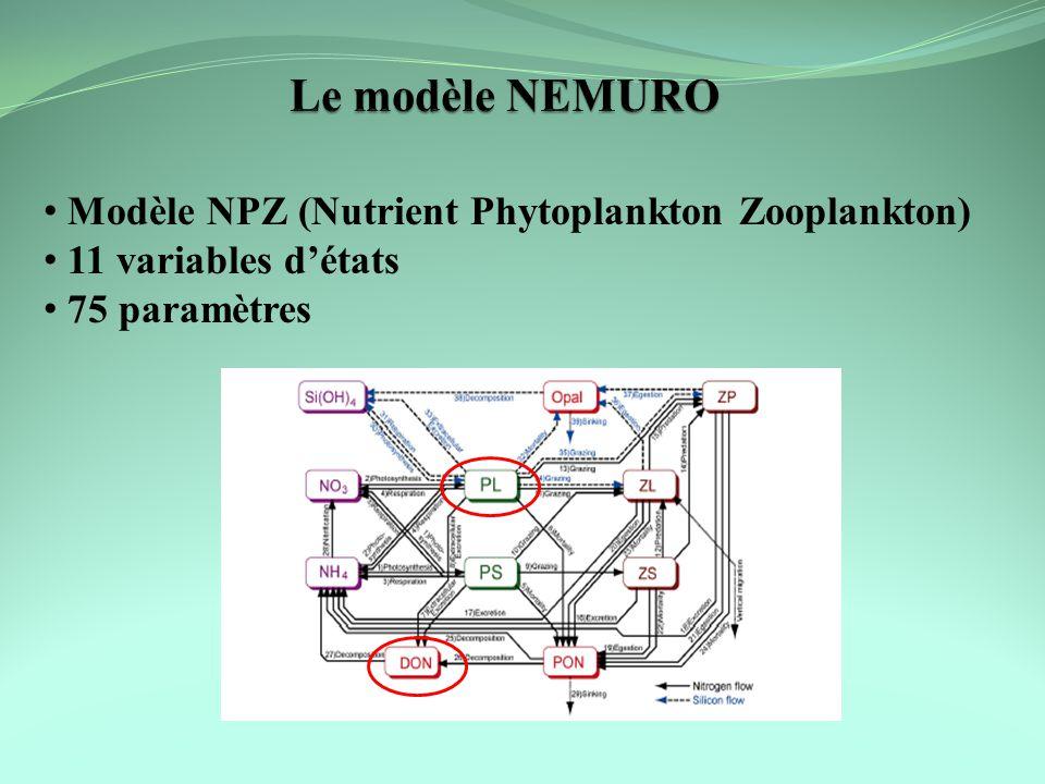 Le modèle NEMURO Modèle NPZ (Nutrient Phytoplankton Zooplankton)