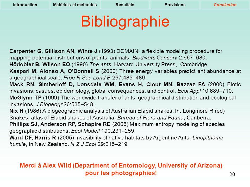 Introduction Matériels et méthodes. Résultats. Prévisions. Conclusion. Bibliographie.
