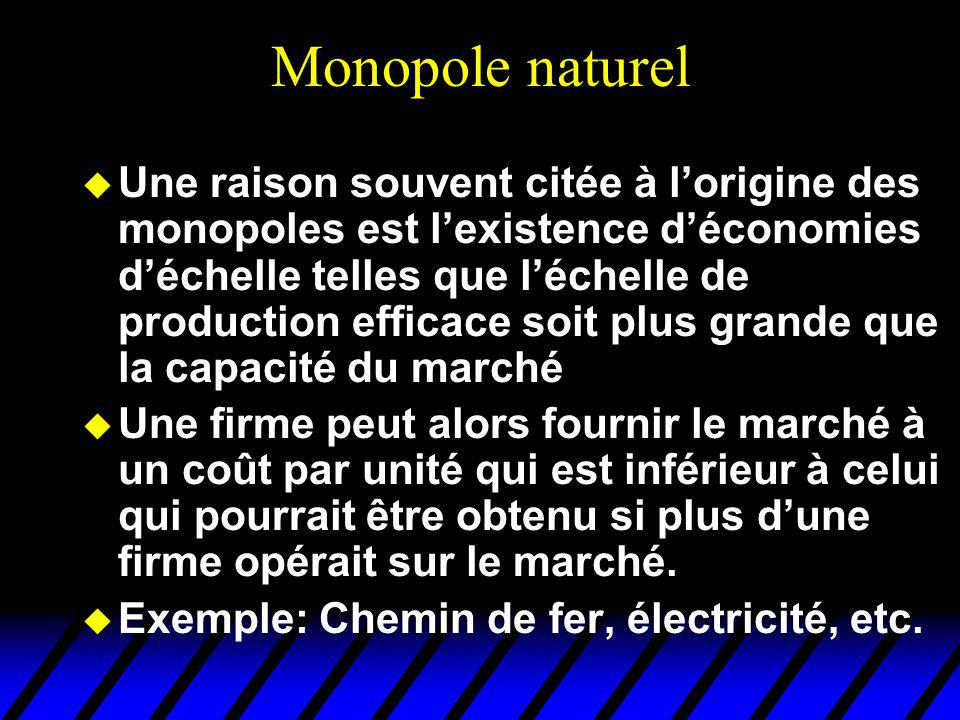 Monopole naturel