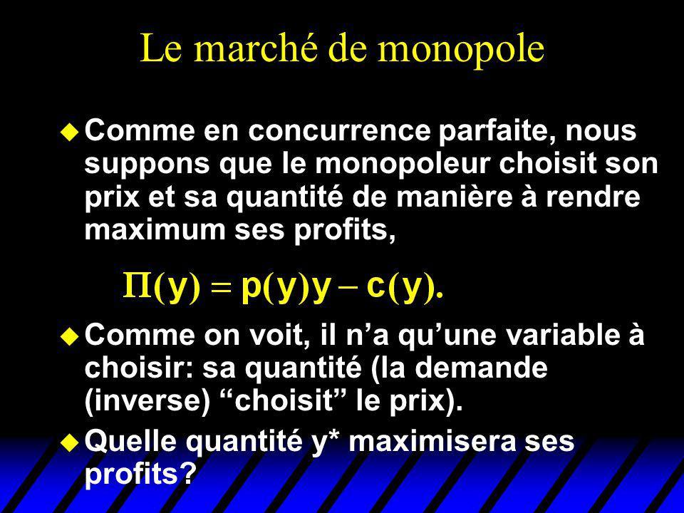 Le marché de monopole