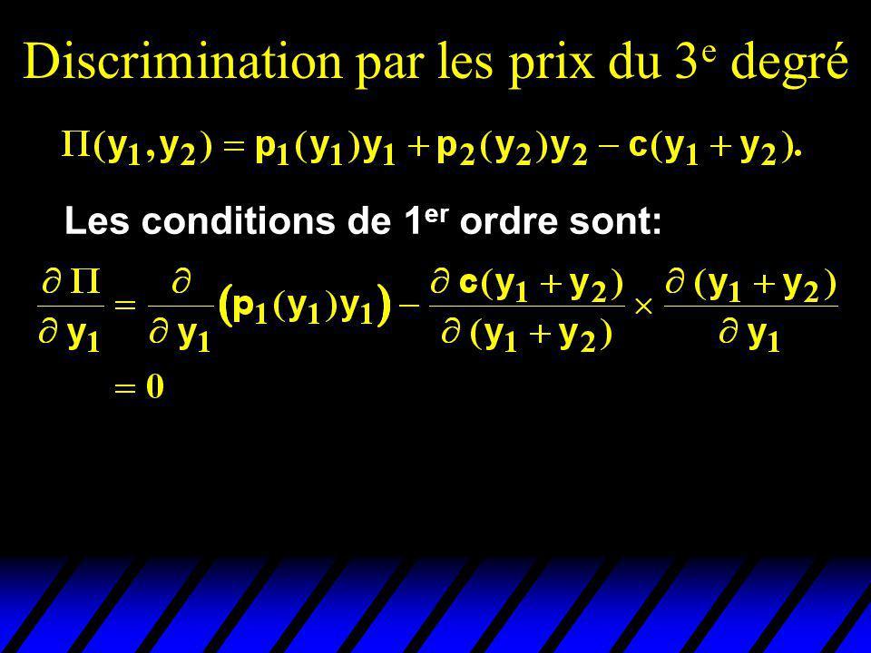 Discrimination par les prix du 3e degré