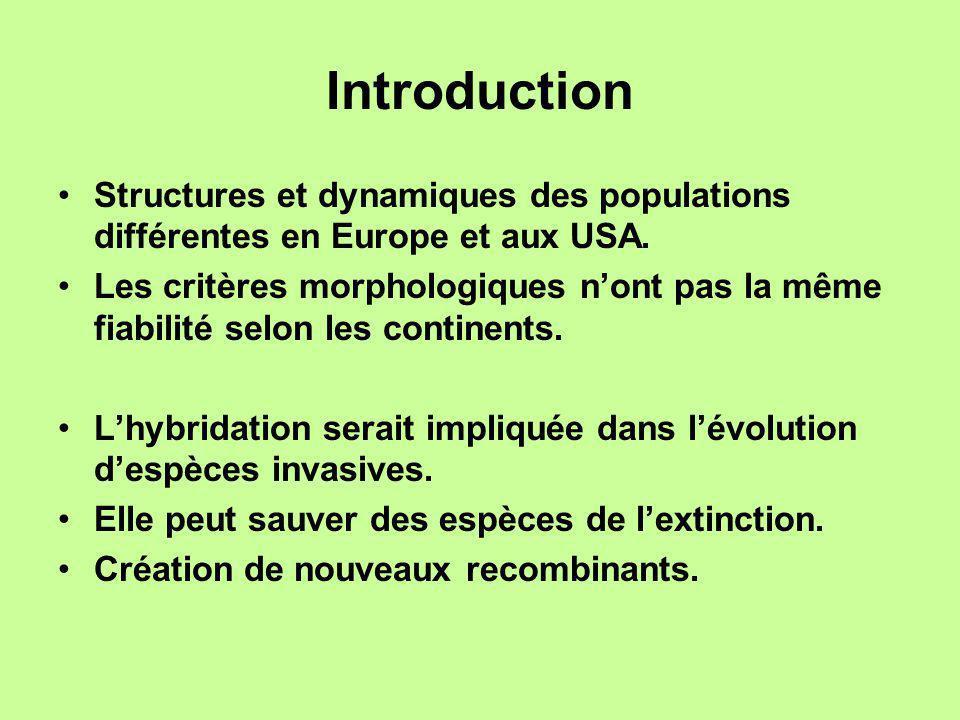 Introduction Structures et dynamiques des populations différentes en Europe et aux USA.