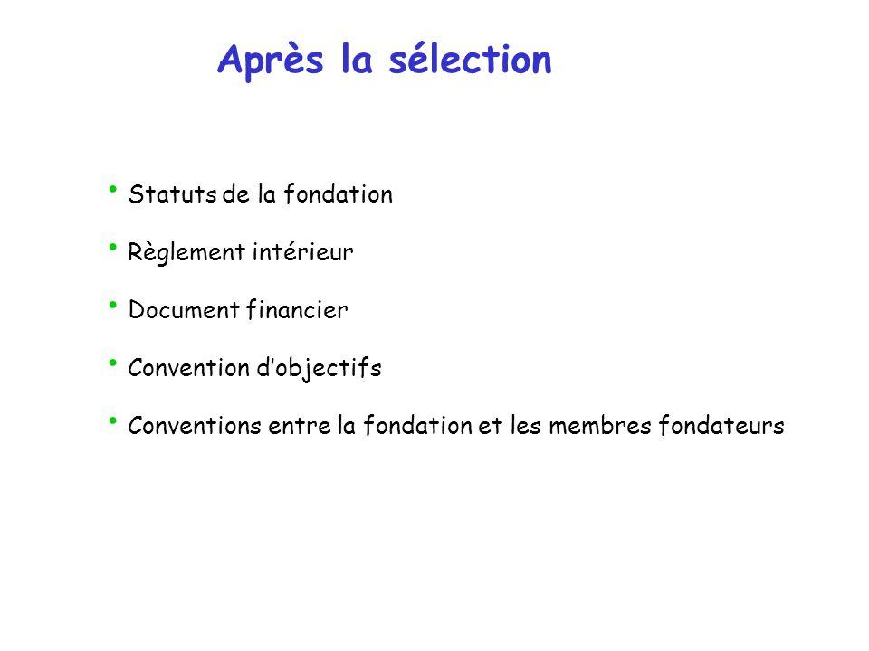Après la sélection Statuts de la fondation Règlement intérieur