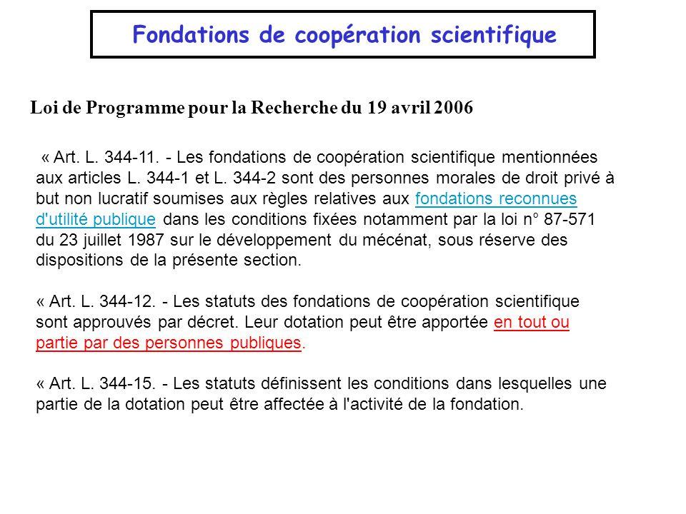 Fondations de coopération scientifique
