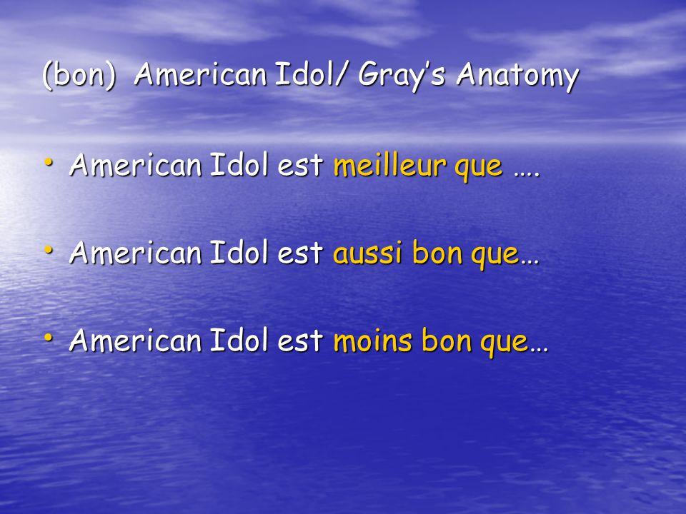 (bon) American Idol/ Gray's Anatomy