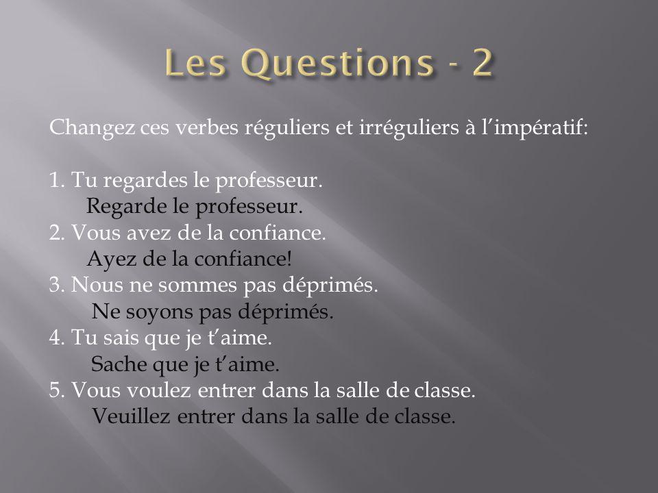 Les Questions - 2