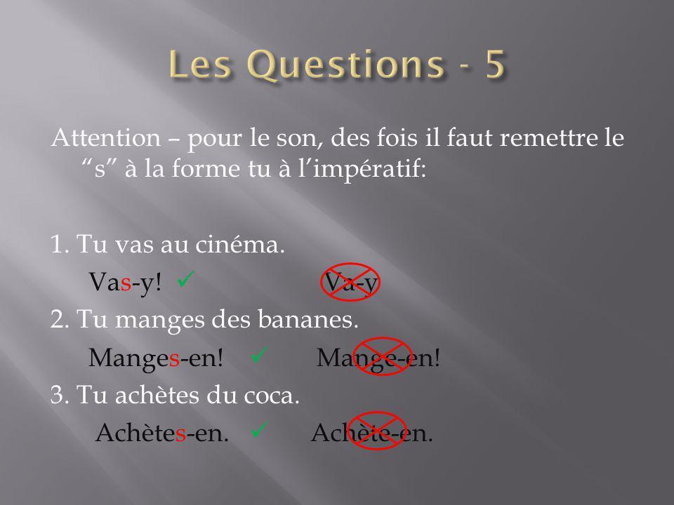 Les Questions - 5