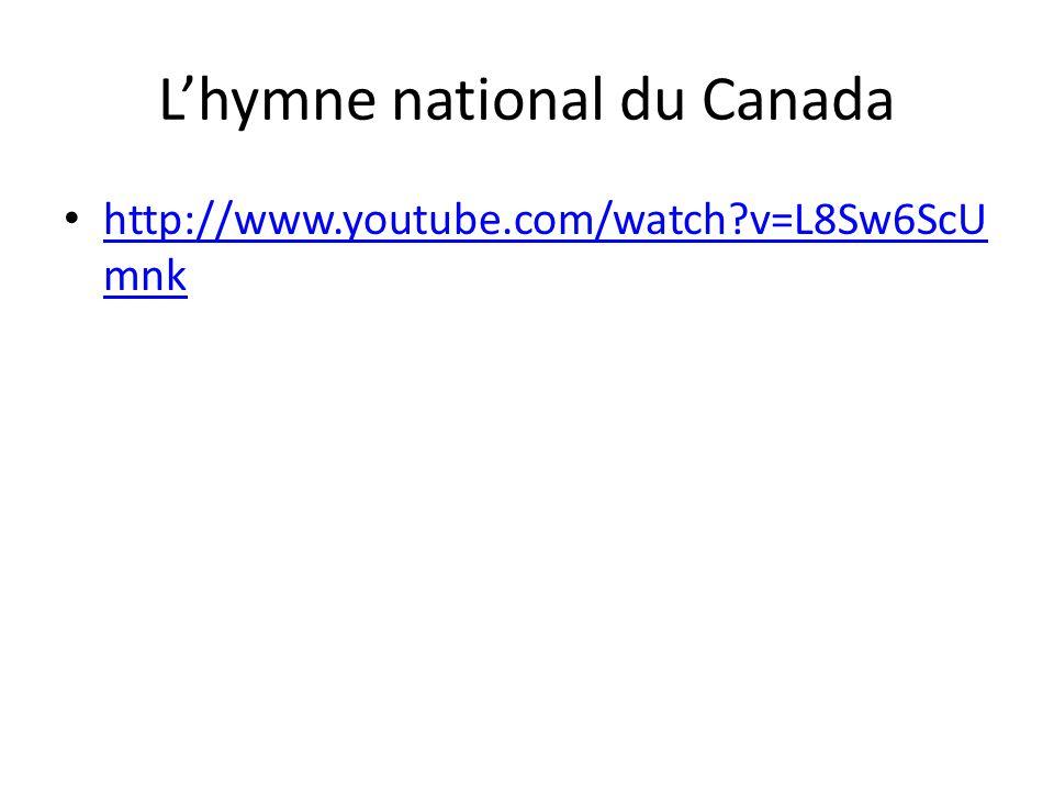 L'hymne national du Canada