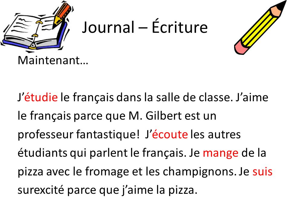 Journal – Écriture