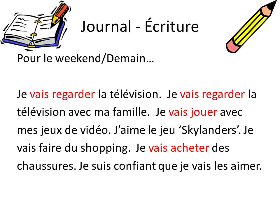 Journal - Écriture