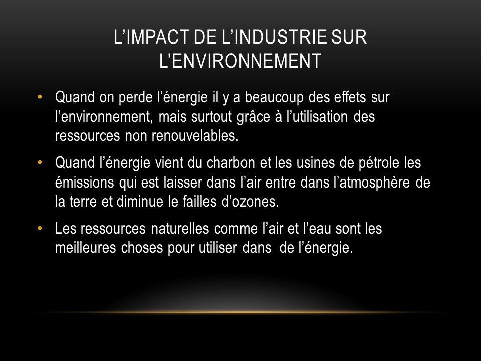 L'impact de l'industrie sur l'environnement