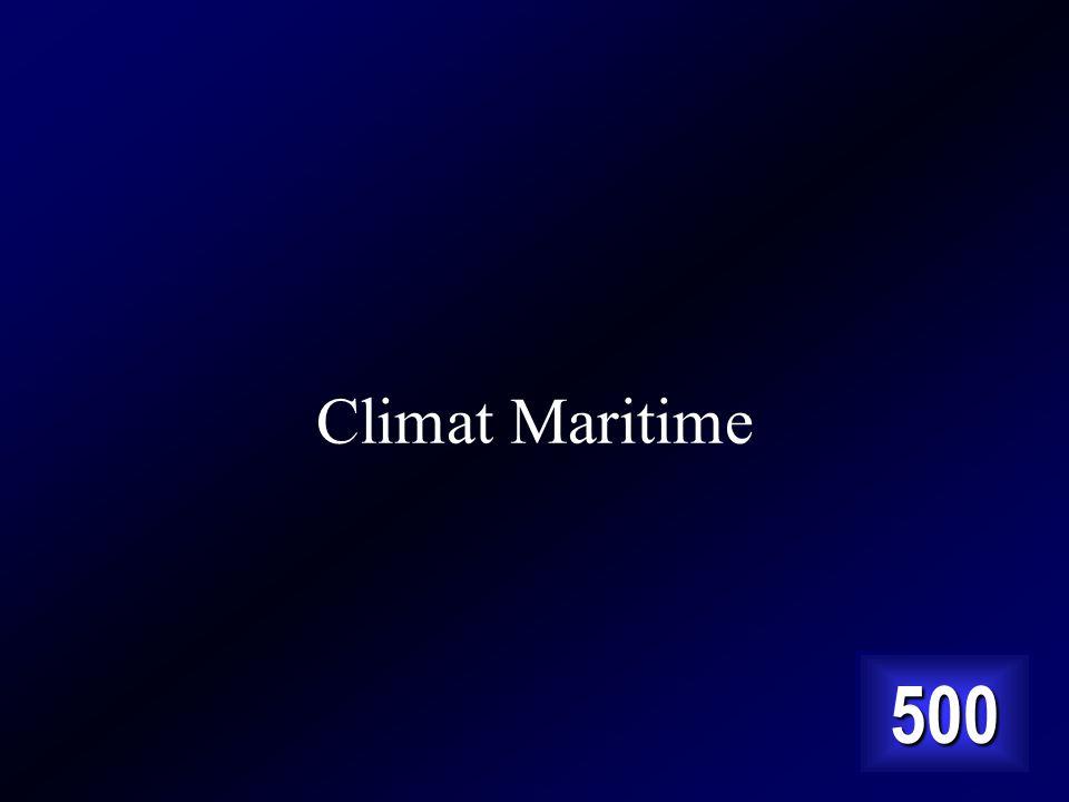 Climat Maritime 500