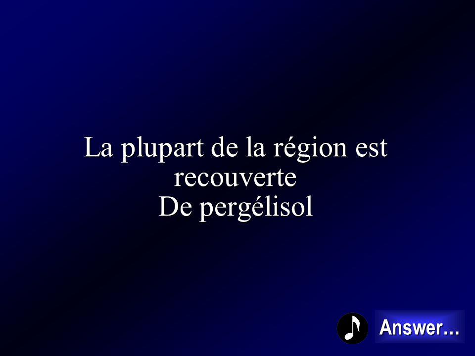La plupart de la région est recouverte De pergélisol