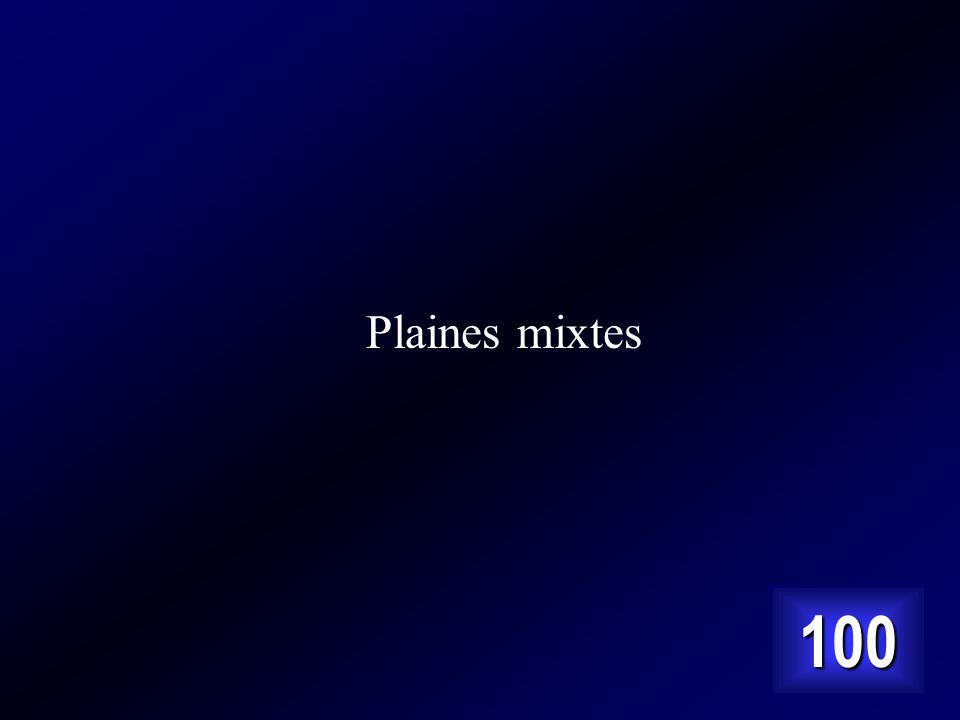 Plaines mixtes 100