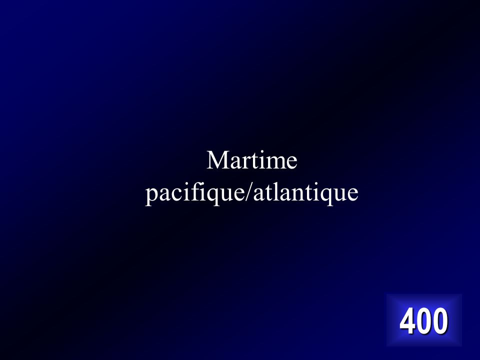 Martime pacifique/atlantique