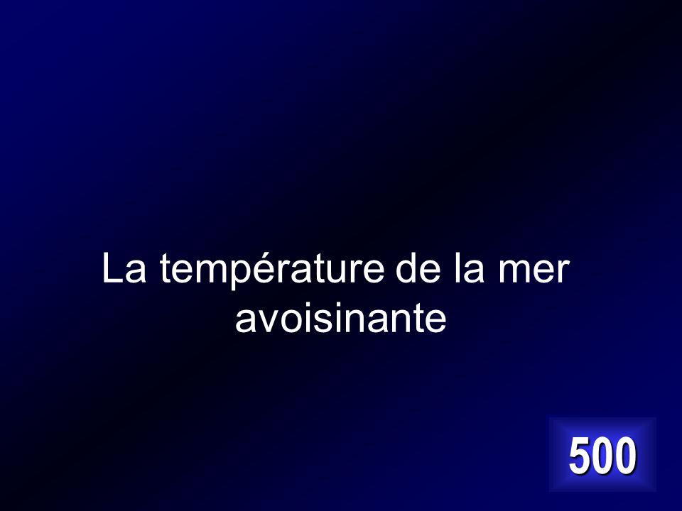La température de la mer