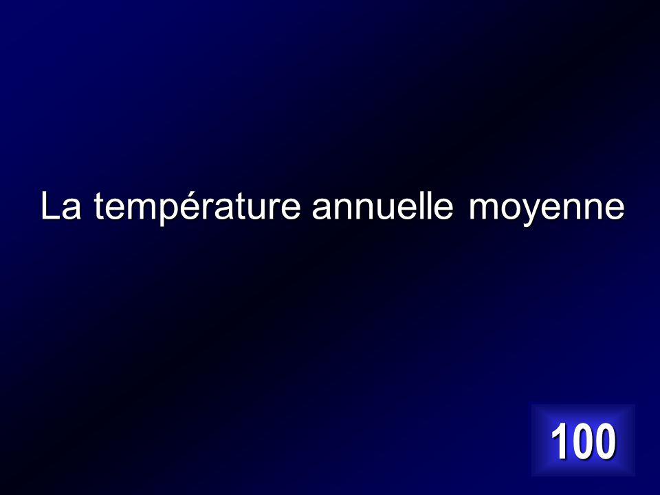 La température annuelle moyenne