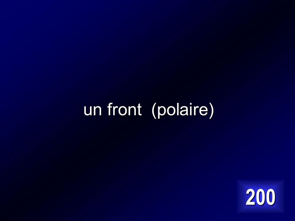 un front (polaire) 200