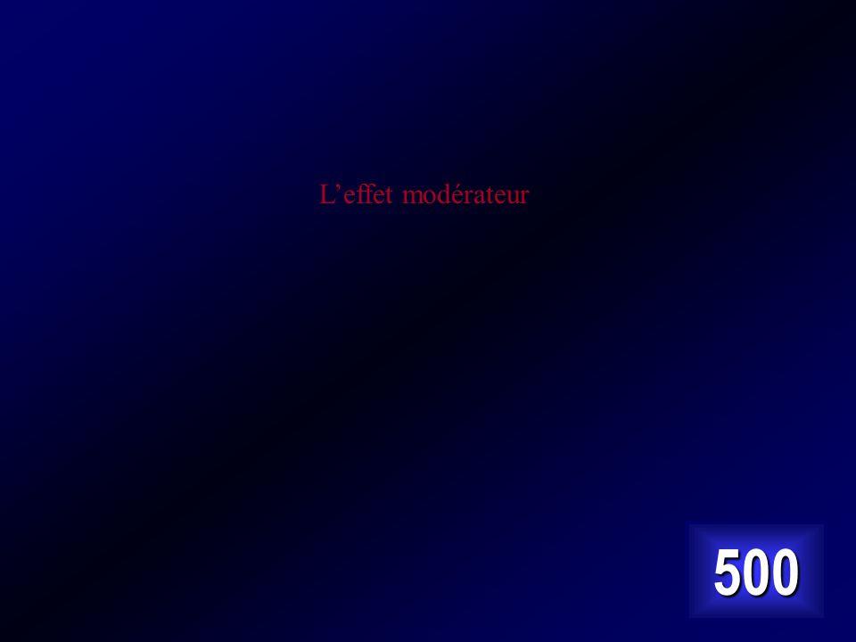 L'effet modérateur 500