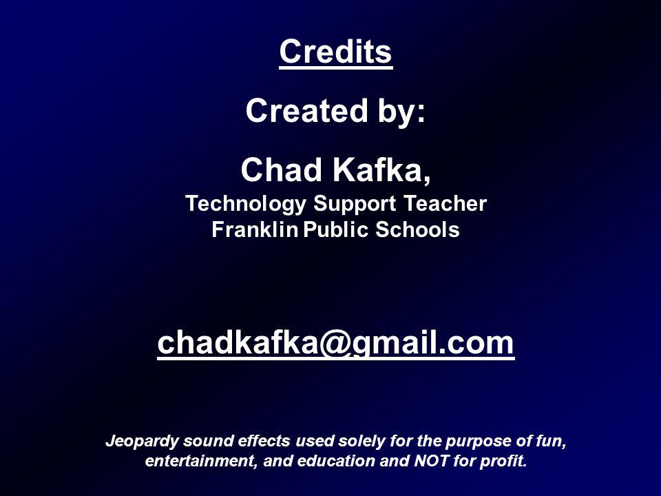Chad Kafka, Technology Support Teacher Franklin Public Schools