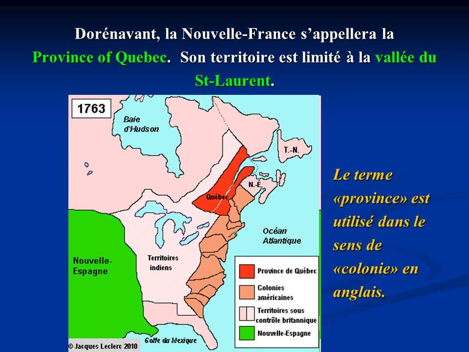 Dorénavant, la Nouvelle-France s'appellera la